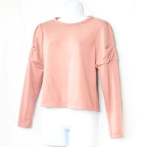 Sweaters - Lucky Brand Coral/Pink Puff Long Sleeve Sweater XS